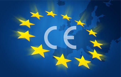 CE işareti ve Avrupa Birliği bayrağı